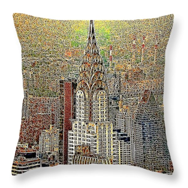 Chrysler Building New York City 20130425 Throw Pillow by Wingsdomain Art and Photography