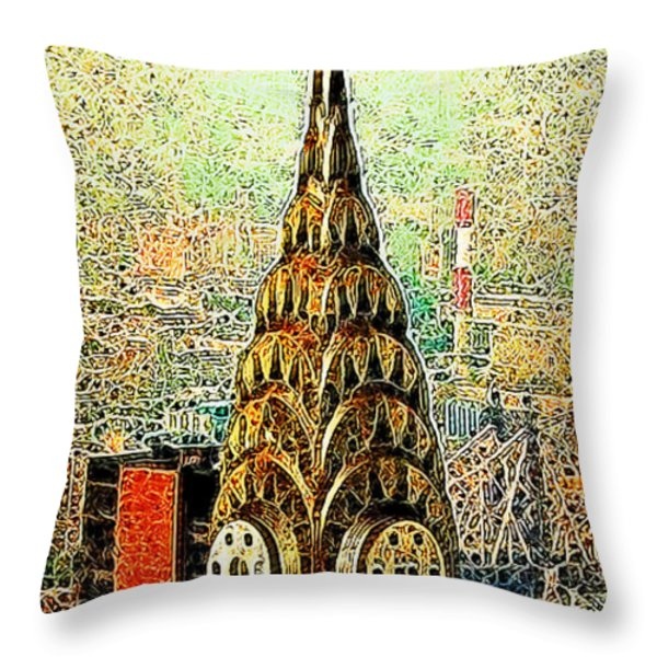 Chrysler Building New York City 20130503 Throw Pillow by Wingsdomain Art and Photography