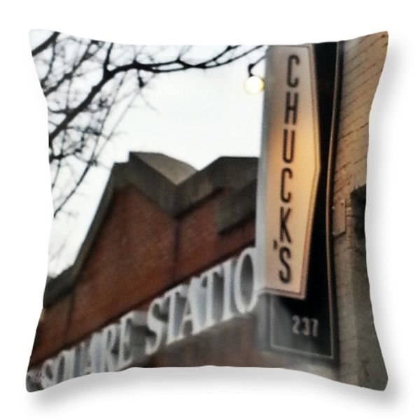 Chuck's Raleigh Throw Pillow by Paulette B Wright