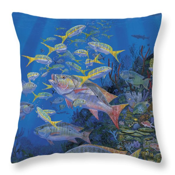 Chum Line Re0013 Throw Pillow by Carey Chen