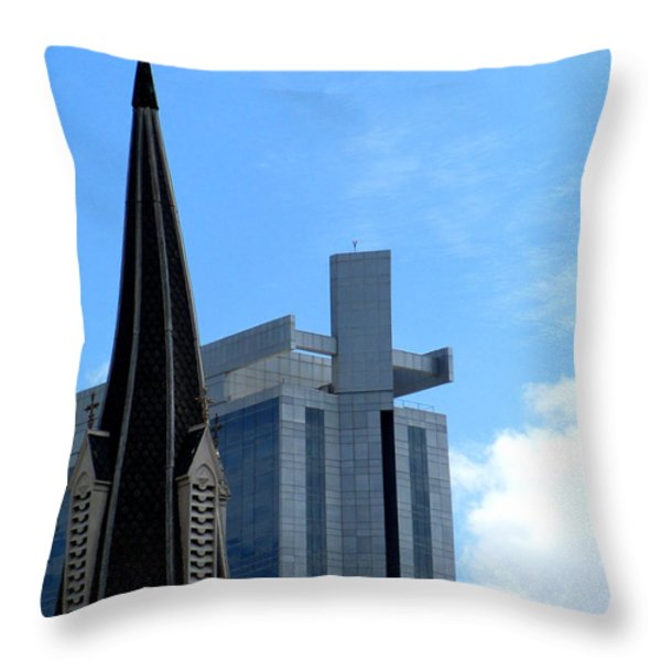 Church And State Throw Pillow by Randall Weidner
