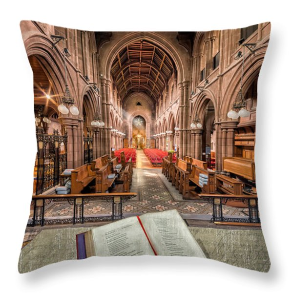 Church Bible Throw Pillow by Adrian Evans