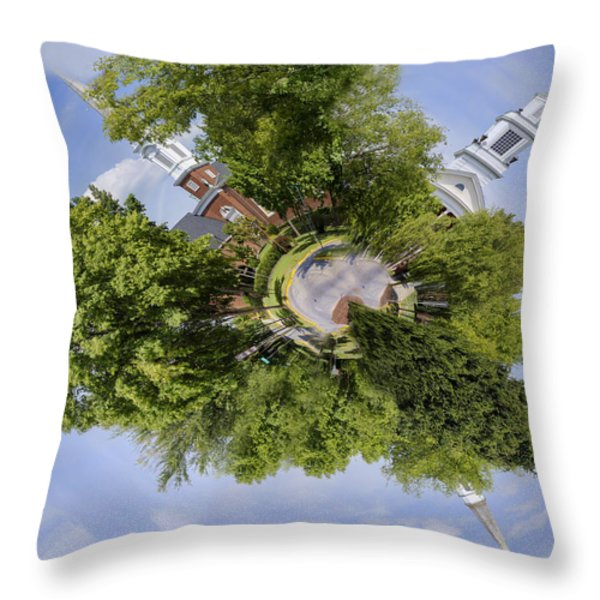 Church Circle Throw Pillow by Heather Applegate