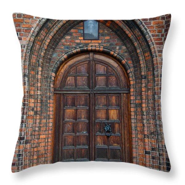 Church Door Throw Pillow by Antony McAulay