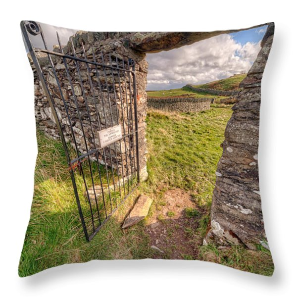 Church Gate Throw Pillow by Adrian Evans