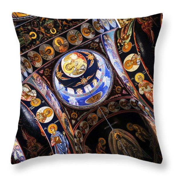 Church interior Throw Pillow by Elena Elisseeva