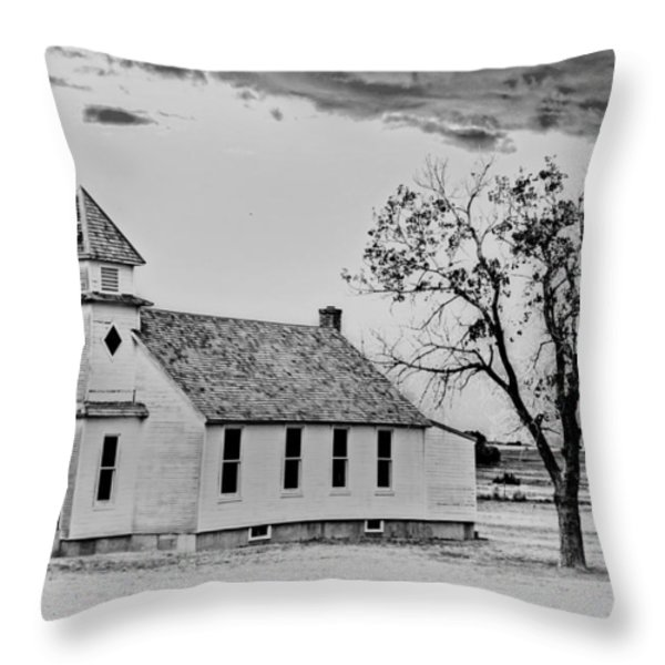 Church on the Plains Throw Pillow by Marty Koch