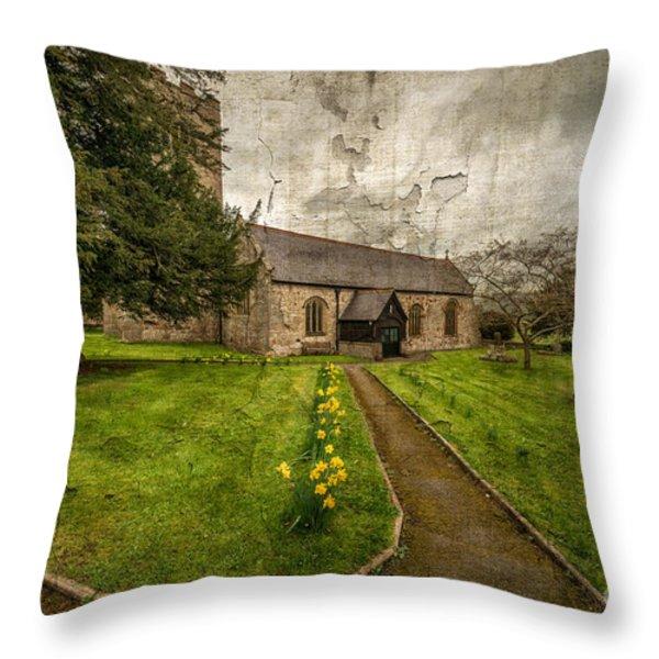Church Path Throw Pillow by Adrian Evans