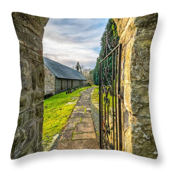 Church Way Throw Pillow by Adrian Evans