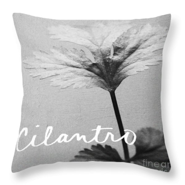 Cilantro Throw Pillow by Linda Woods