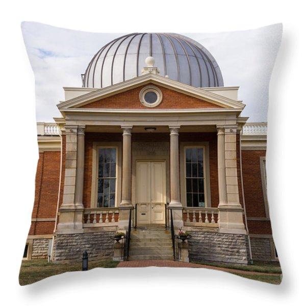 Cincinnati Observatory in Cincinnati Ohio Throw Pillow by Paul Velgos