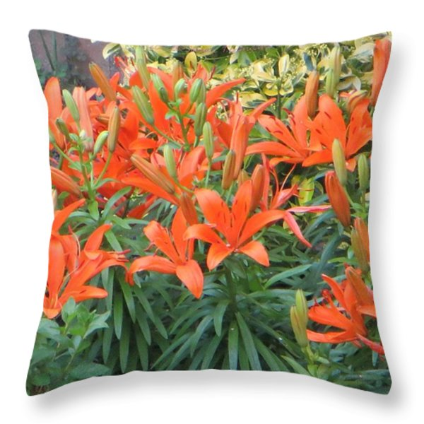Cincture of lilies Throw Pillow by Sonali Gangane