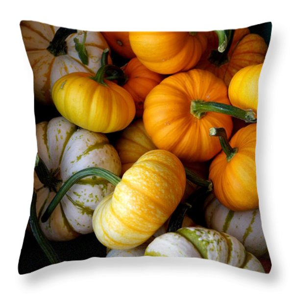 Cinderella Pumpkin Pile Throw Pillow by Kerri Mortenson
