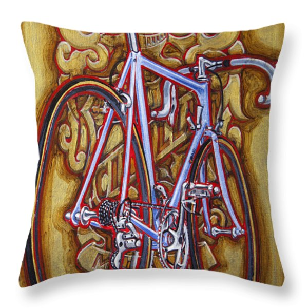 Cinelli Laser bicycle Throw Pillow by Mark Howard Jones