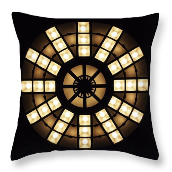 Circle In A Square Throw Pillow by Rona Black
