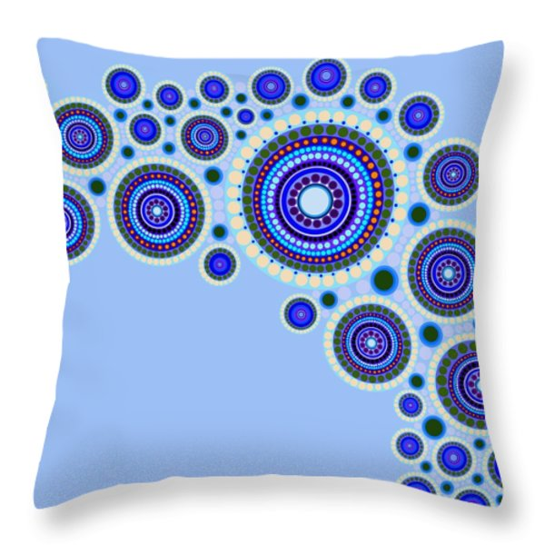Circle Motif 117 Throw Pillow by John F Metcalf