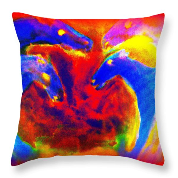 Circle of love Throw Pillow by Hilde Widerberg