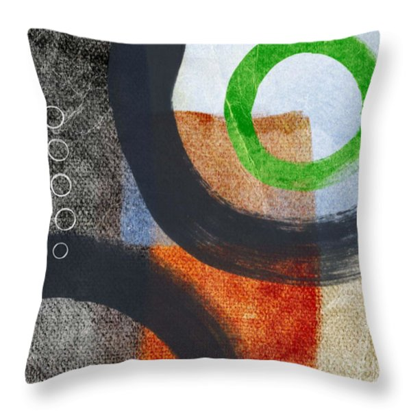 Circles 2 Throw Pillow by Linda Woods