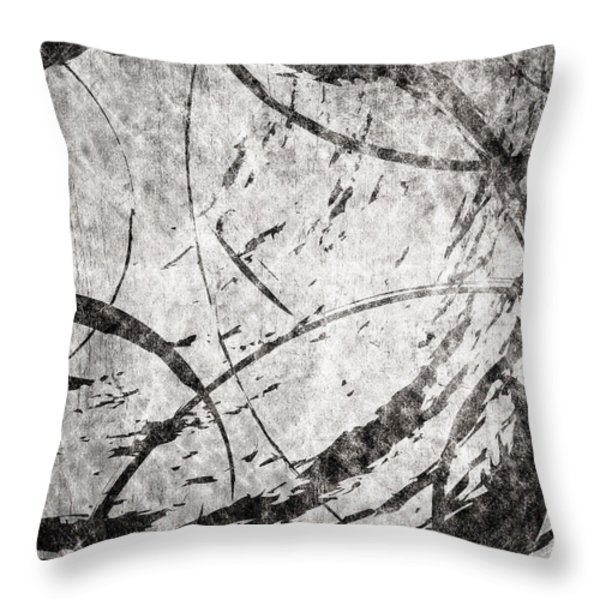Circles Throw Pillow by Brett Pfister