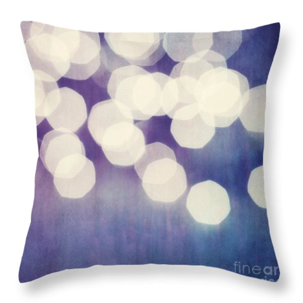 Circles Of Light Throw Pillow by Priska Wettstein