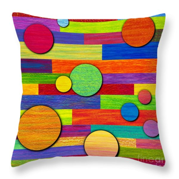 Circular Bystanders  Throw Pillow by David K Small