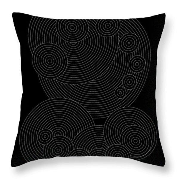 Circular Sunday Inverse Throw Pillow by DB Artist