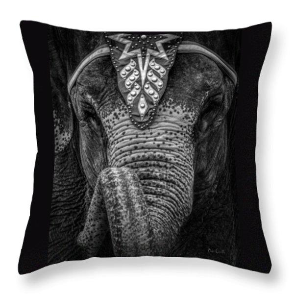 Circus Elephant Throw Pillow by Bob Orsillo