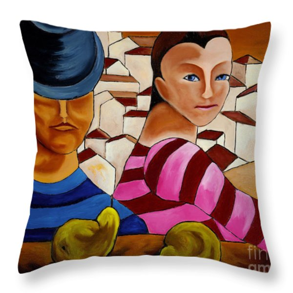 Circus Gypsies   Throw Pillow by William Cain