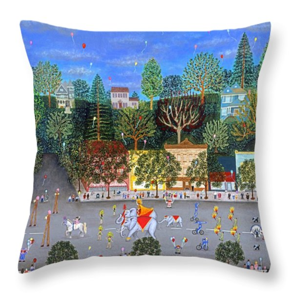 Circus Parade Two Throw Pillow by Linda Mears
