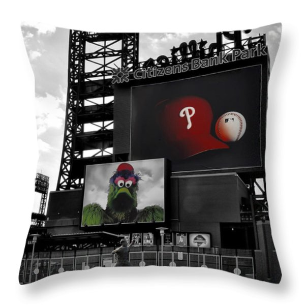 Citizens Bank Park Philadelphia Throw Pillow by Bill Cannon