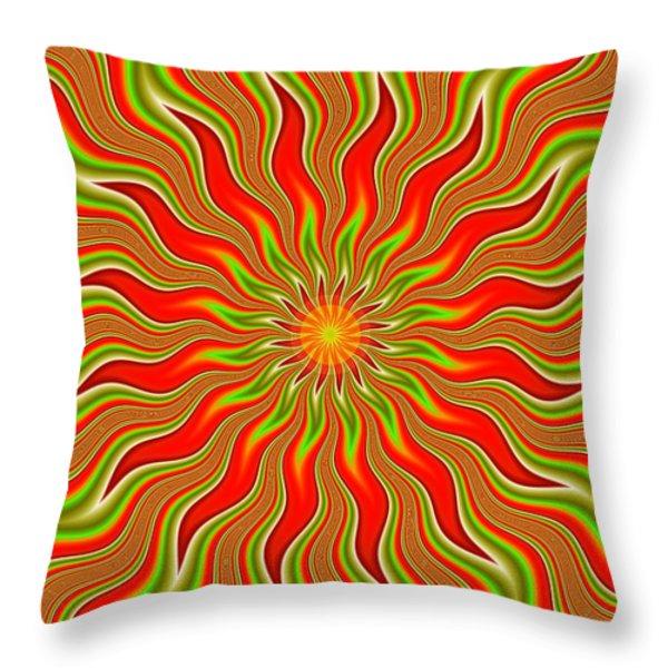 Citrus Sunshine Throw Pillow by Faye Giblin