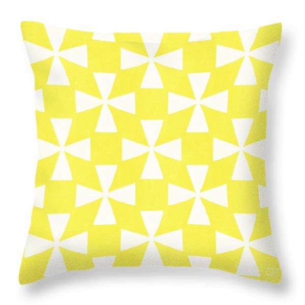 Citrus Twirl Throw Pillow by Linda Woods