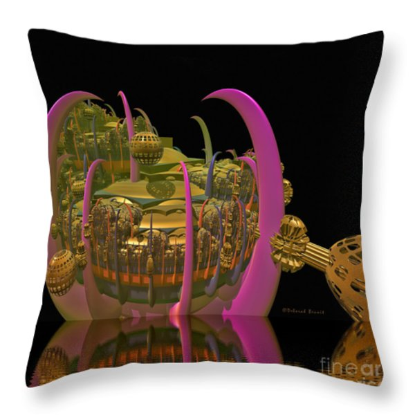 City 22 Throw Pillow by Deborah Benoit