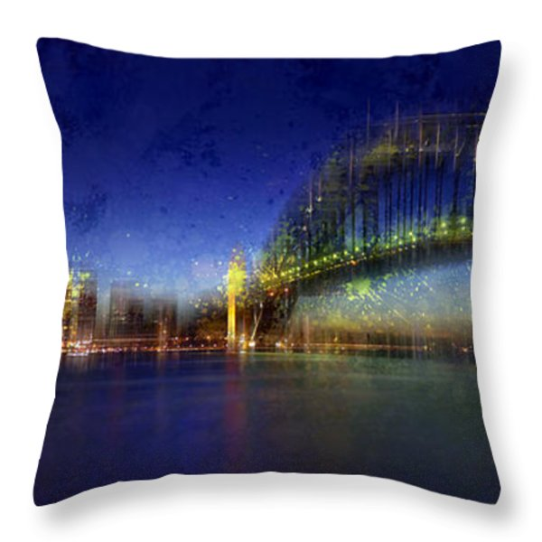 City-art Sydney Throw Pillow by Melanie Viola