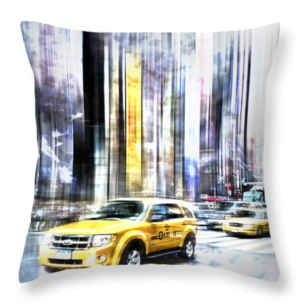 City-Art TIMES SQUARE II Throw Pillow by Melanie Viola