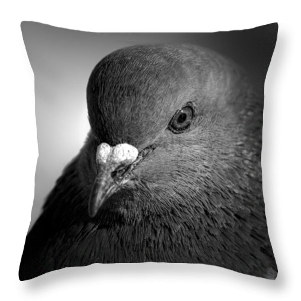 City Bird Gang Leader Throw Pillow by Bob Orsillo