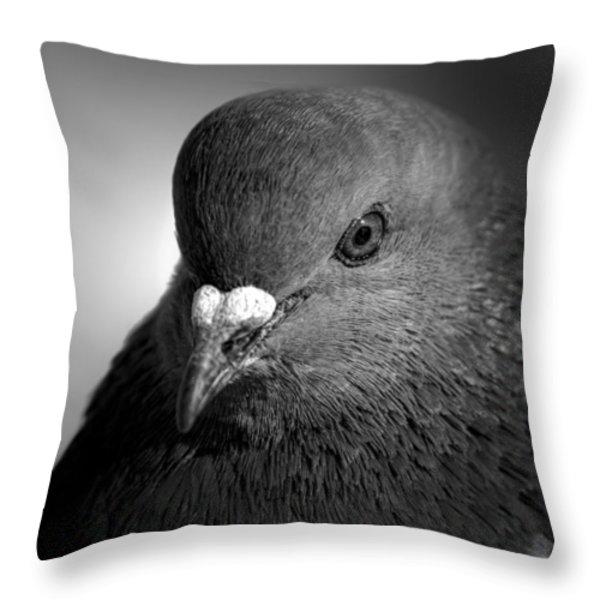 City Bird Gang Leader Throw Pillow by Bob Orsillo