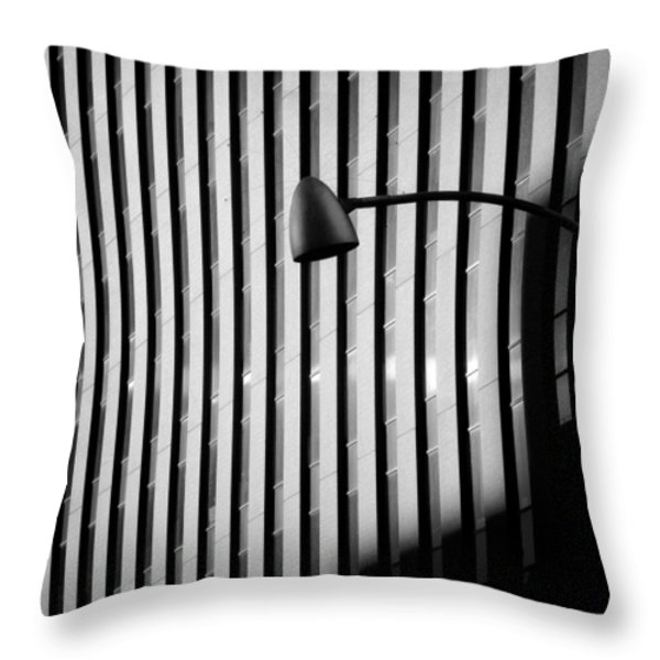 City Lamp Throw Pillow by Dave Bowman