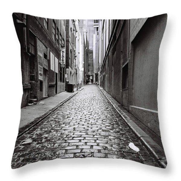City Lane Melbourne Throw Pillow by Linda Lees