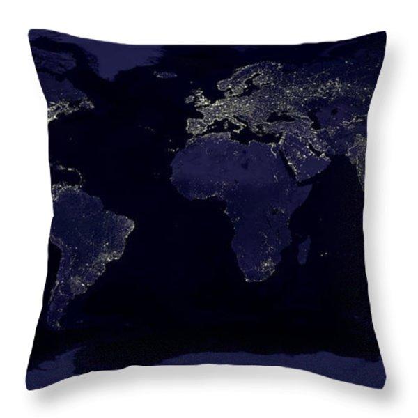 City Lights Throw Pillow by Sebastian Musial