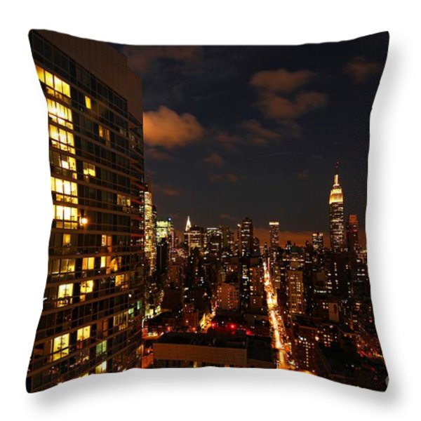 City Living Throw Pillow by Andrew Paranavitana