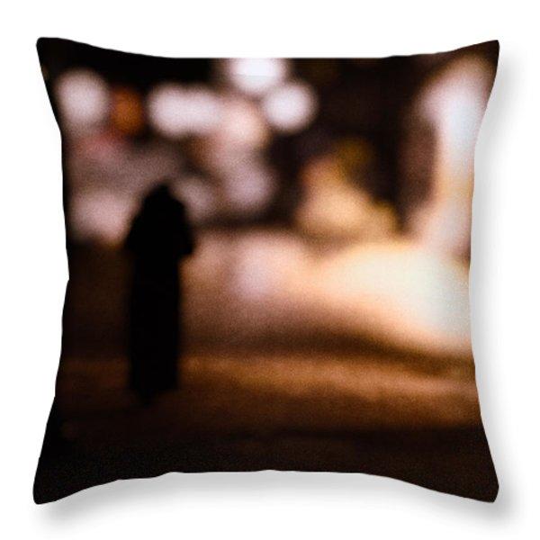 City Nights Throw Pillow by Bob Orsillo