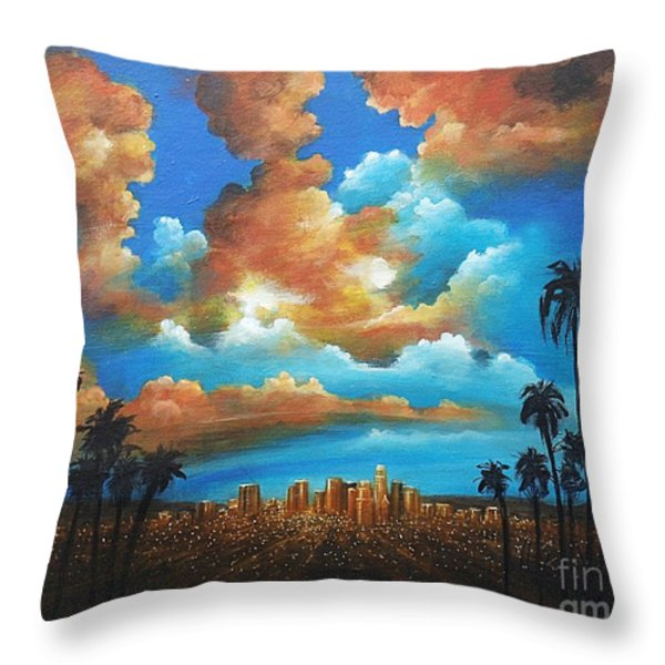 City Of Angels Throw Pillow by Susi Galloway