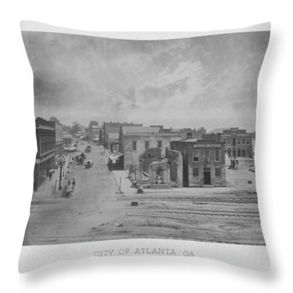 City Of Atlanta 1863 Throw Pillow by War Is Hell Store