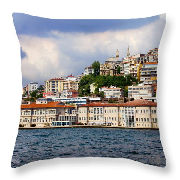 City of Istanbul Cityscape Throw Pillow by Artur Bogacki