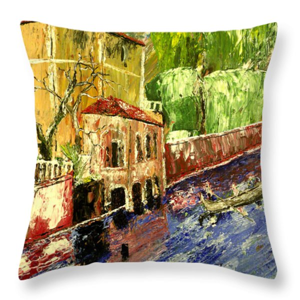 City Of Romance Throw Pillow by Mark Moore