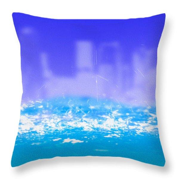 City Rain Throw Pillow by Bob Orsillo
