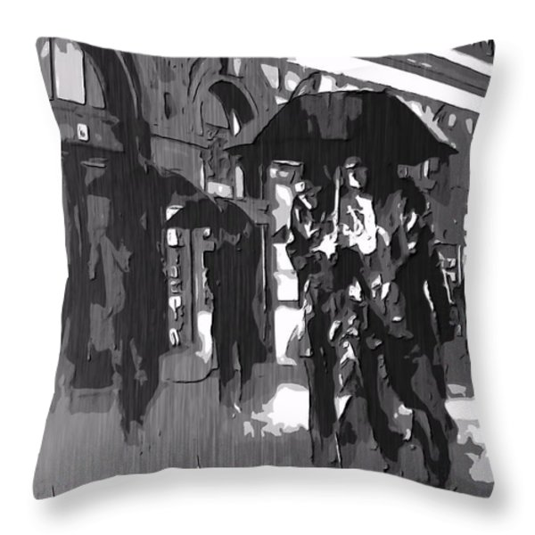 City Rain Throw Pillow by Dan Sproul