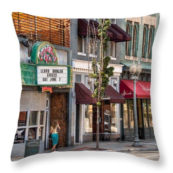 City - Roanoke Va - Down One Fine Street  Throw Pillow by Mike Savad