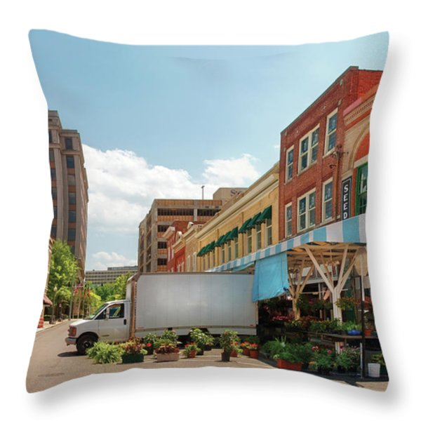 City - Roanoke VA - The City Market Throw Pillow by Mike Savad